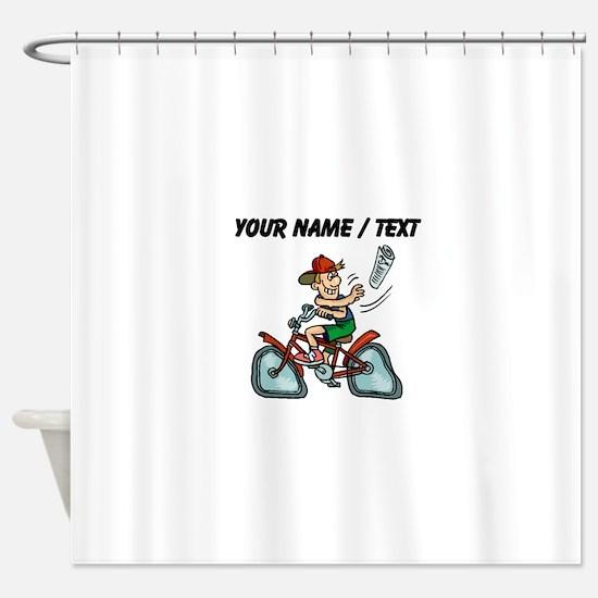 Paperboy (Custom) Shower Curtain