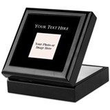 Photo with text Square Keepsake Boxes