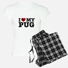 I (HEART) MY PUG Pajamas