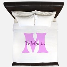 CUSTOM First Initial and Name King Duvet