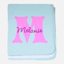 CUSTOM First Initial and Name baby blanket