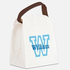CUSTOM First Initial and Name Canvas Lunch Bag