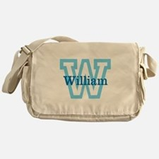 CUSTOM First Initial and Name Messenger Bag