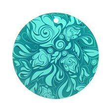 Cute Turquoise Round Ornament