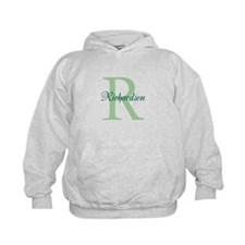 CUSTOM Initial and Name Green Hoodie
