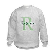 CUSTOM Initial and Name Green Sweatshirt