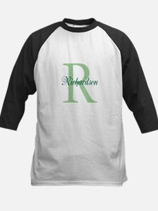 CUSTOM Initial and Name Green Kids Baseball Jersey