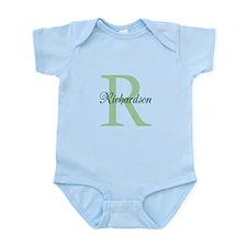 CUSTOM Initial and Name Green Infant Bodysuit