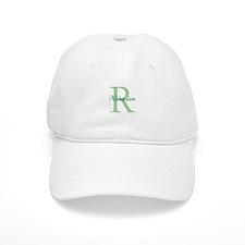 CUSTOM Initial and Name Green Baseball Cap
