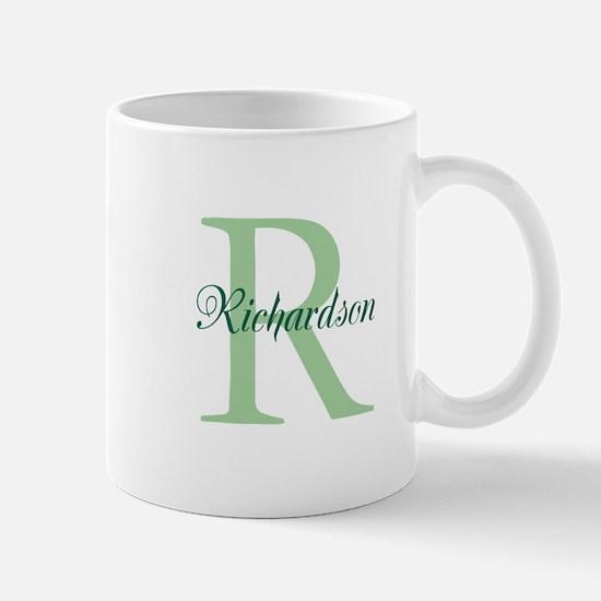 CUSTOM Initial and Name Green Mug