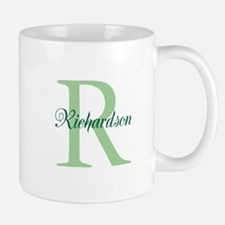 CUSTOM Initial and Name Green Small Small Mug