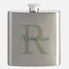 CUSTOM Initial and Name Green Flask