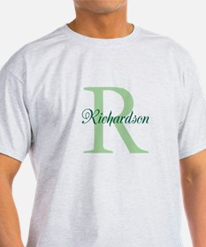 CUSTOM Initial and Name Green T-Shirt