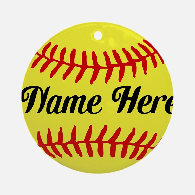 Personalized Softball Ornament (Round)