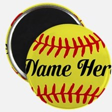 Personalized Softball Magnets
