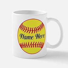 Personalized Softball Mugs