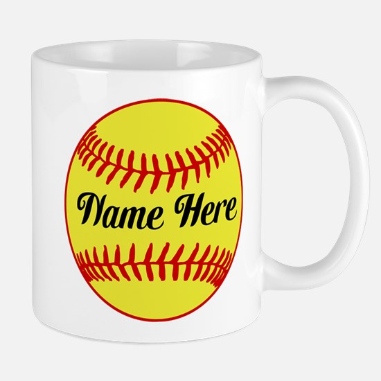 Personalized Softball Mugs