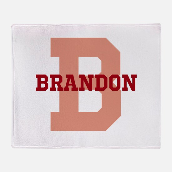 CUSTOM Initial and Name Red Throw Blanket