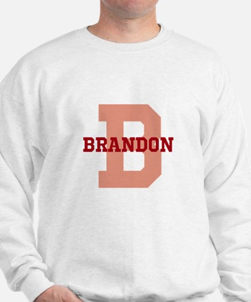 CUSTOM Initial and Name Red Jumper
