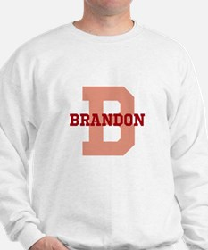 CUSTOM Initial and Name Red Sweater