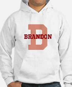 CUSTOM Initial and Name Red Jumper Hoody
