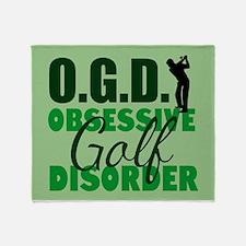 Golf Obsessed Throw Blanket
