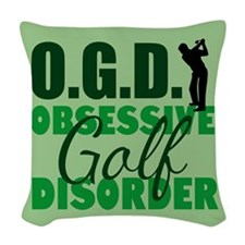 Golf Obsessed Woven Throw Pillow
