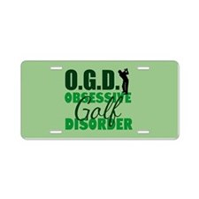 Golf Obsessed Aluminum License Plate