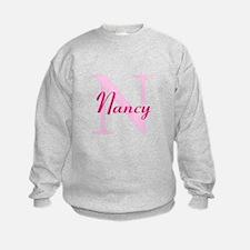 CUSTOM Initial and Name Pink Sweatshirt