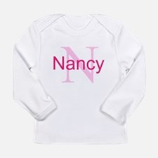 CUSTOM Initial and Name Long Sleeve Infant T-Shirt