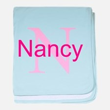 CUSTOM Initial and Name Pink baby blanket