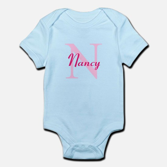 CUSTOM Initial and Name Pink Infant Bodysuit
