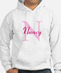 CUSTOM Initial and Name Pink Jumper Hoody