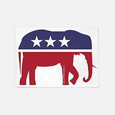 Republican Elephant 5'x7'Area Rug