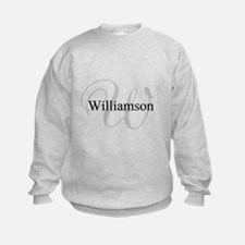 CUSTOM Initial and Name Gray/Black Sweatshirt