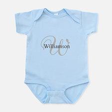 CUSTOM Initial and Name Gray/Black Infant Bodysuit