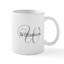 CUSTOM Initial and Name Gray/Black Mug