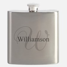 CUSTOM Initial and Name Gray/Black Flask