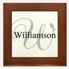 CUSTOM Initial and Name Gray/Black Framed Tile
