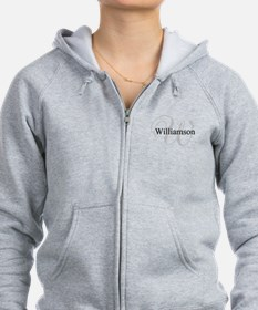 CUSTOM Initial and Name Gray/Bl Zip Hoodie