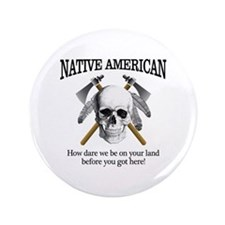 "Native American (skull) 3.5"" Button"