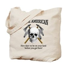 Native American (skull) Tote Bag