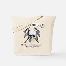 Native American (skull) Tote Bag