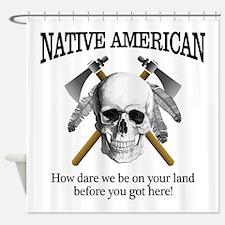 Native American (skull) Shower Curtain