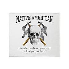 Native American (skull) Throw Blanket