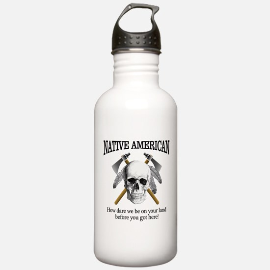 Native American (skull) Water Bottle