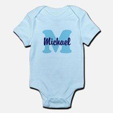 CUSTOM Initial and Name Blue Onesie
