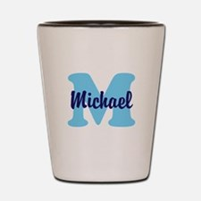 CUSTOM Initial and Name Blue Shot Glass