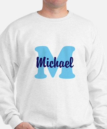 CUSTOM Initial and Name Blue Sweater