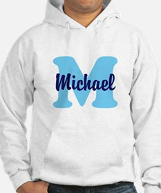 CUSTOM Initial and Name Blue Hoodie